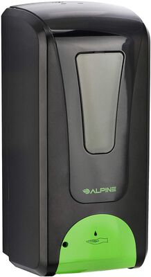 2. Alpine industries black liquid or gel touchless automatic soap dispenser for restaurants