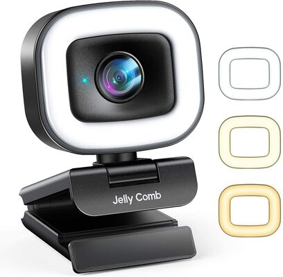 7. Jelly Comb 60FPS Adjustable Ring Light Webcam for Streaming for Skype and YouTube