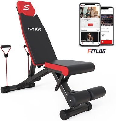 9. Snode Dumbell SturdyAdjustable Weight Bench with Fast Folding Mechanism