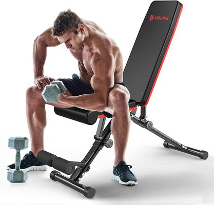 10. Aerlang Black Full Body Workout Adjustable Weight Bench with Training Manual