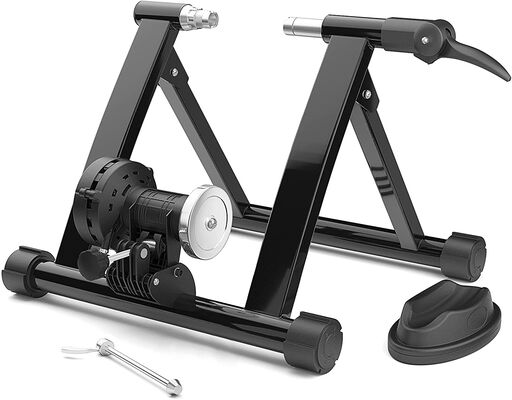 10. Steelgear Magnetic Riding Bike Trainer Stand with Quick Release Skewer