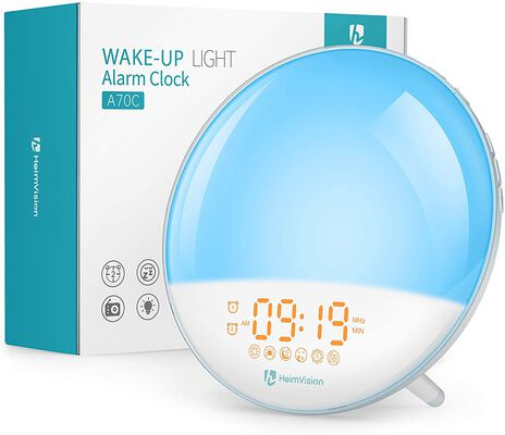 5. Heimvision Sleep Aid Dual Alarms Sunrise Alarm Clock for Heavy Sleepers Adults and Kids