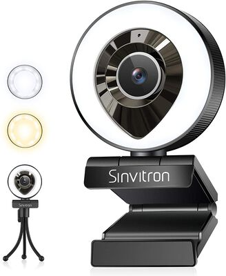8. Sinvintron Video Conferencing Webcam for Streaming with Tripod Stand for Computer Use