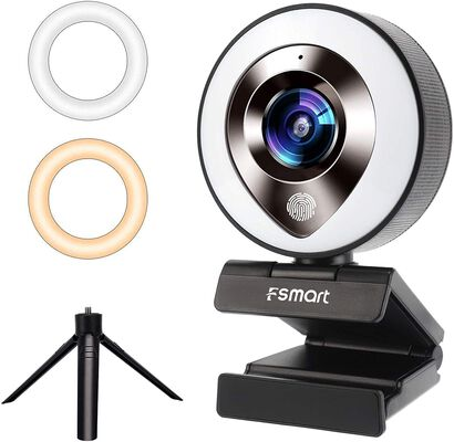 9. Fsmart Touch Lights Webcam for Streaming for Video Conferencing on Zoom and Skype