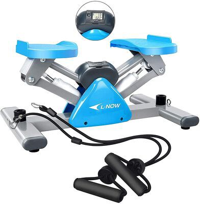 4. Afully Exercise Fitness Mini Stepper Machine with Adjustable Bands and LCD Monitor