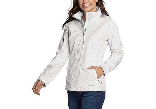 Avoogue Womens Raincoat Lightweight Waterproof Rain Jacket Hoodie Active Rain Coat